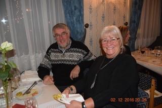 Vidar Ørseng og Eva Nilsen var tilstede med sine respektive og ved bordet satt også Sidsel Henriksson.